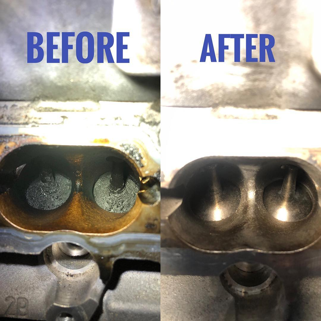 Before and After Walnut Blasting repairs - GDI - Repairs